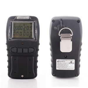 Rechargeable Lithium Battery 4 Gas (H2S, CO, O2, LEL) Portable Multi Gas Detector