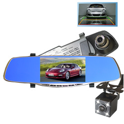 5 Inch Mirror Rear View Dashcam Car DVR