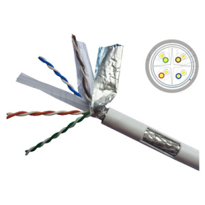 Double Jacket CAT6 Cable 23AWG with ETL/Ec/ISO9001/RoHS Certificate