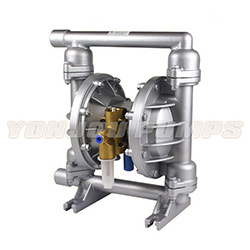 Qby Cast Iron Stainless Steel PVDF PTFE Teflon Air Operated (Pneumatic) Double Diaphragm Pump