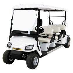 Zhongyi 6 Seats off Road Battery Powered Classic Shuttle Electric Sightseeing Golf Car for Wholesale