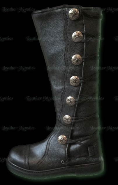 s black leather knee high renaissance boots easy