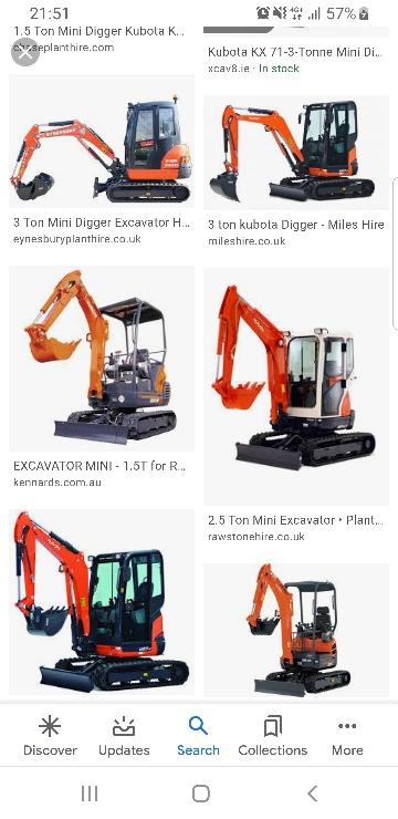 Digger Track Machine