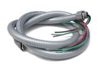 Here's What a Standard Power Whip Looks Like, Kind of Like a Hose Filled with Wires