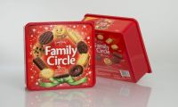 The Family Circle Box Is Sealed with a Plastic Lid