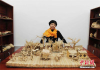 Straw Artwork Portrays Scenes From Ancient Painting