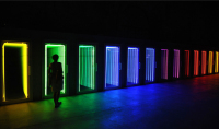 Ivan Navarro Has Great Talent for Expressing Everyday Objects in Another Light,with Light