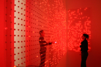 This Experimental Art/Light Installation Uses LED Lights to Bring The Cell Phone to Life