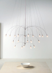 The Twilight 12 Chandelier by LBL Lighting Uses Two Layers of 12 Frosted Glass Teardrops