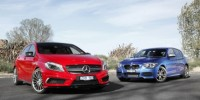Hatches Don't Come Any Hotter Than The BMW M135I and The Mercedes-Benz A45 Amg