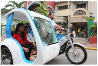 a Three-Wheel Taxi Test