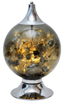 This Vintage Styled Globe Light Bulb Lamp From 1st Dibs Features a Glass and Metal Globe