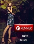 Lojas Renner Announces Its Results for The 3Q12 and The Nine Months of 2012 (9M12)