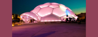 Spain's Plaza del Milenio Wow Onlookers with Stunning LED-lit Dome