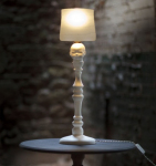 Curiousa&Curiousa's Curious Baby's Head&Barbed Wire Table Lamp,Made From a Cast Bone China