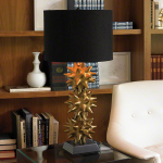 Urchin Table Lamp Uses 3 Stacked Spiky Urchin Shapes to Define The Base of This Table Lamp