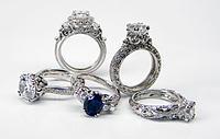 18-karat White Gold 'Renaissance' Bridal Jewelry Group by Rhyme & Reason