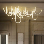 This Illuminated LED Rope Chandelier Was Created for The Newly Renovated Chateau Borely