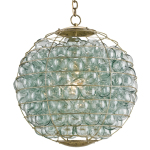 Delicate Glass Spheres Are Used Throughout Many of Currey&Company's Ceiling Mounted Lamps