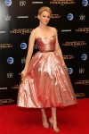 Elizabeth Banks Shined in Paul Andrew's Pink and Gold Sandals