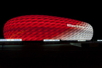 Allianz Arena Lit with LEDs for Upcoming FC Bayern Munich