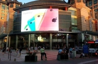 Qstech LED Display Screen in Beijing Is Used to Broadcast The Apple News