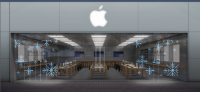 Apple Plans to Celebrate by Adding a Wintery Window Display to Its Storefronts