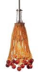 LBL Lighting's Marmo Pendant Uses Beads to Mimic a Lamp Shade's Shape