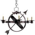 Visual Comfort's Armillary 6 Light Chandelier