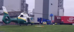 A Worker Was Airlifted to Hospital with Serious Injuries After Falling Through Roof