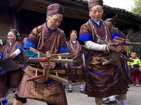 Miao Ethnic Group:Playing Lusheng and The Stool Dance