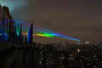 Installation of Rainbow After The Storm Is Created by The American Artist Yvette Mattern