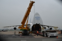 Ruslan Has Carried a Shipment of Airport Cargo Equipment From Amsterdam to Philippines