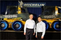 Pete Selleck and Ralph Dimenna Hosted The Grand Opening of The Michelin Tweel Plant