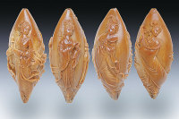 Kernel Carving Is a Traditional Micro-Sculpture Made From The Kernel of Olive