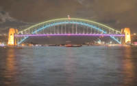 The Color the Bridge project lights up the Sydney Harbor Bridge with 3200 LED lights