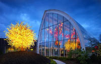 Centerpiece of Chihuly Garden and Glass Is The Glasshouse