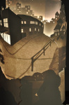 Nicholas Wright's Back-Lit Paper Light Sculpture Captures a Quaint Urban Street