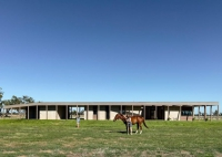 Australian Country House With A Colonnade And A Courtyard