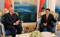 Belarusian President Alexander Lukashenko Meets with Zhong Shan, Special Envoy of Chinese President Xi Jinping