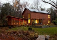 Modern House With A Rustic Cedar Exterior And Calm Interior
