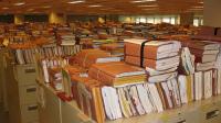 Neatly Bundled Files Sit Atop Filing Cabinets at a North Carolina Va Center