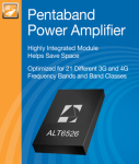 Anadigics Is Shipping Production Volumes of Its ALT6526 Pentaband Power Amplifier