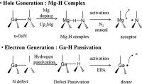 EPA Is Used to Alter The Hydrogen Content in P-Type GaN Layers with a View