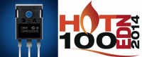 EDN Has Named Its C2M0025120D 1200V,25m&Omega Sic MOSFET as The 'hot 100 Products of 2014'
