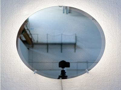 Decorative Moiré Mirror with Optical Patterns