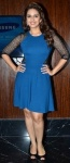Huma Qureshi Was Spotted at The Launch of Samsung Galaxy Grand Wearing a Blue Dress