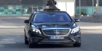 The 2014 Mercedes-Benz S65 Amg Has Been Caught Camouflage-Free While Filming a Commercial