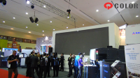 Q-Color P5mm Slim Alloy Rental LED Display Brightened in HP Products Promotion in FGD EXPO