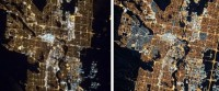 LED Lit Canadian City Looks Fairer Now from Space
